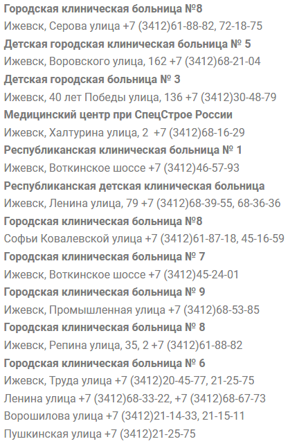 Клиники Ижевска электронная регистратура
