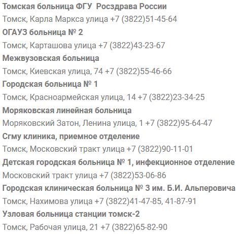 Клиники Томска запись к врачу