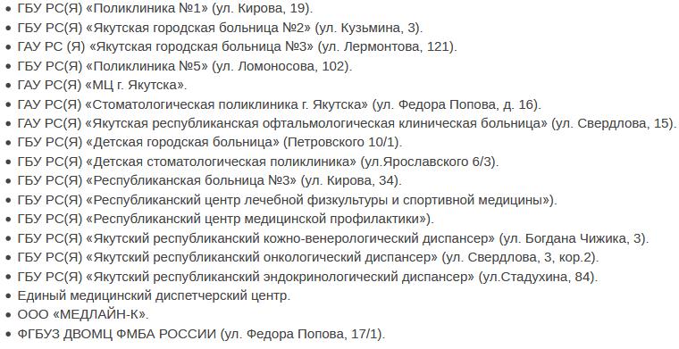 Медицинские учреждения Якутска запись к врачу