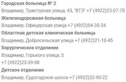 Владимир запись в поликлинику