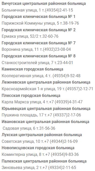 Иваново электронная регистратура