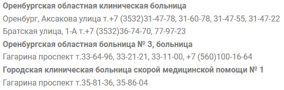 поликлиники оренбурга запись