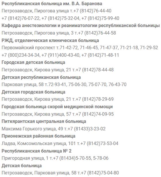 запись к врачу больницы петрозаводск