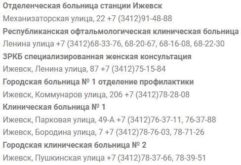 Клиники Ижевска запись к врачу
