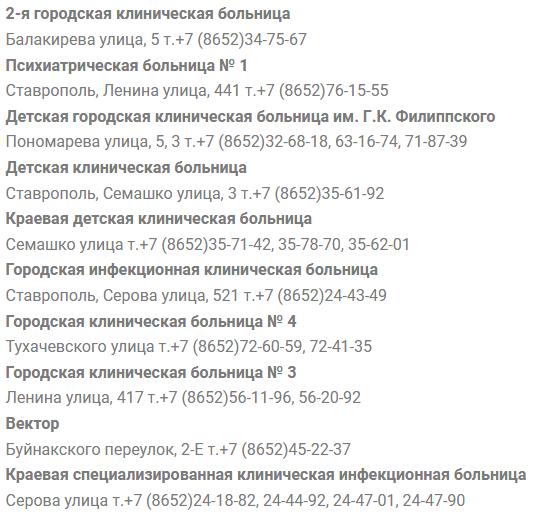 Запись к врачу в больницы Ставрополя