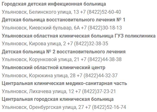 Клиники Ульяновска запись к врачу